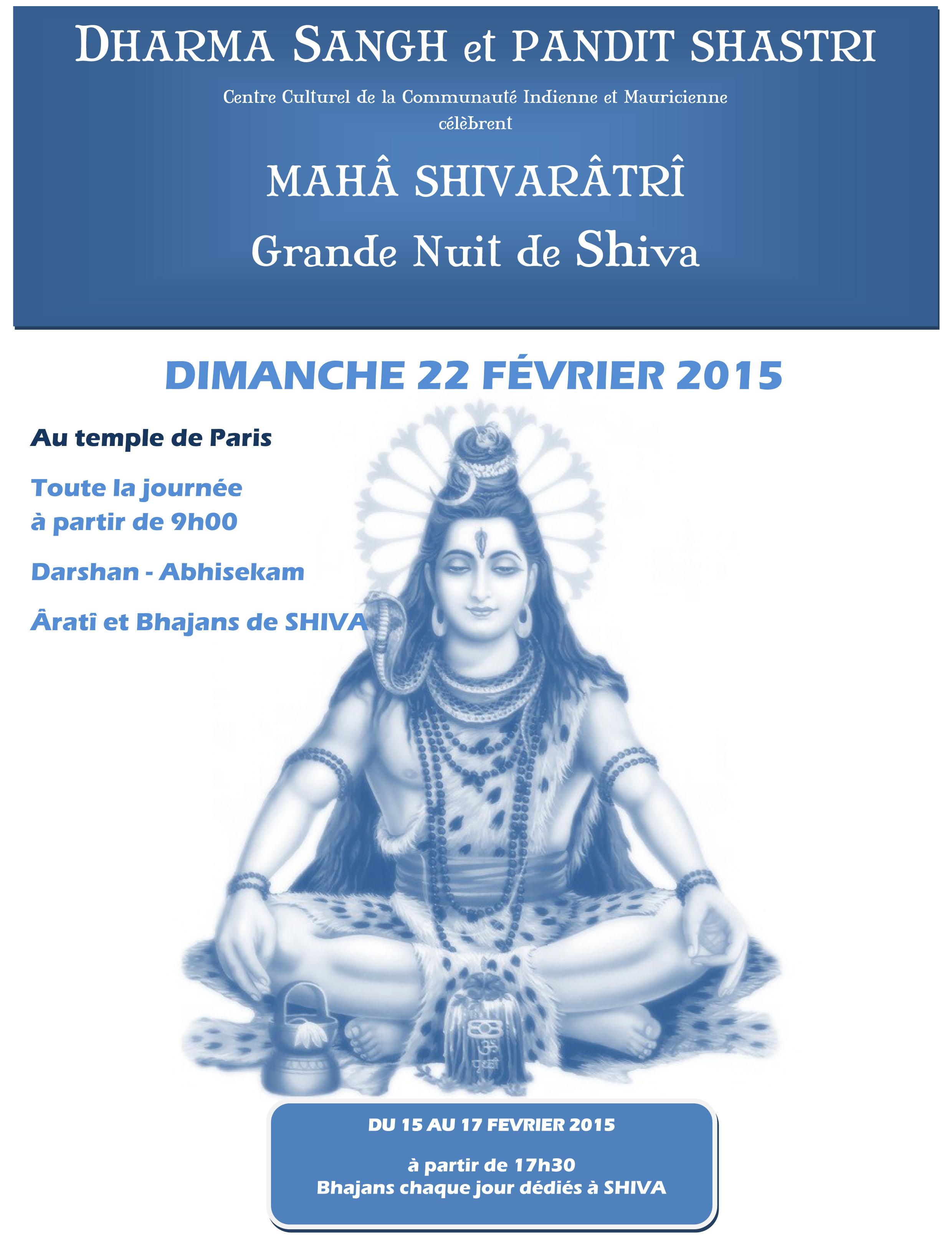 affiche de shiva 2015 2