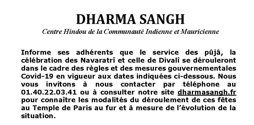 affichettes durga puja et divali texte