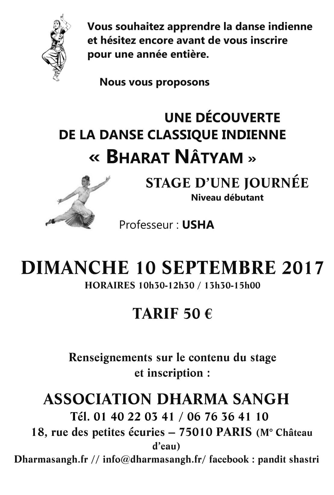 STAGE BHARAT NATYAM 2017 AFFICHETTE SITE