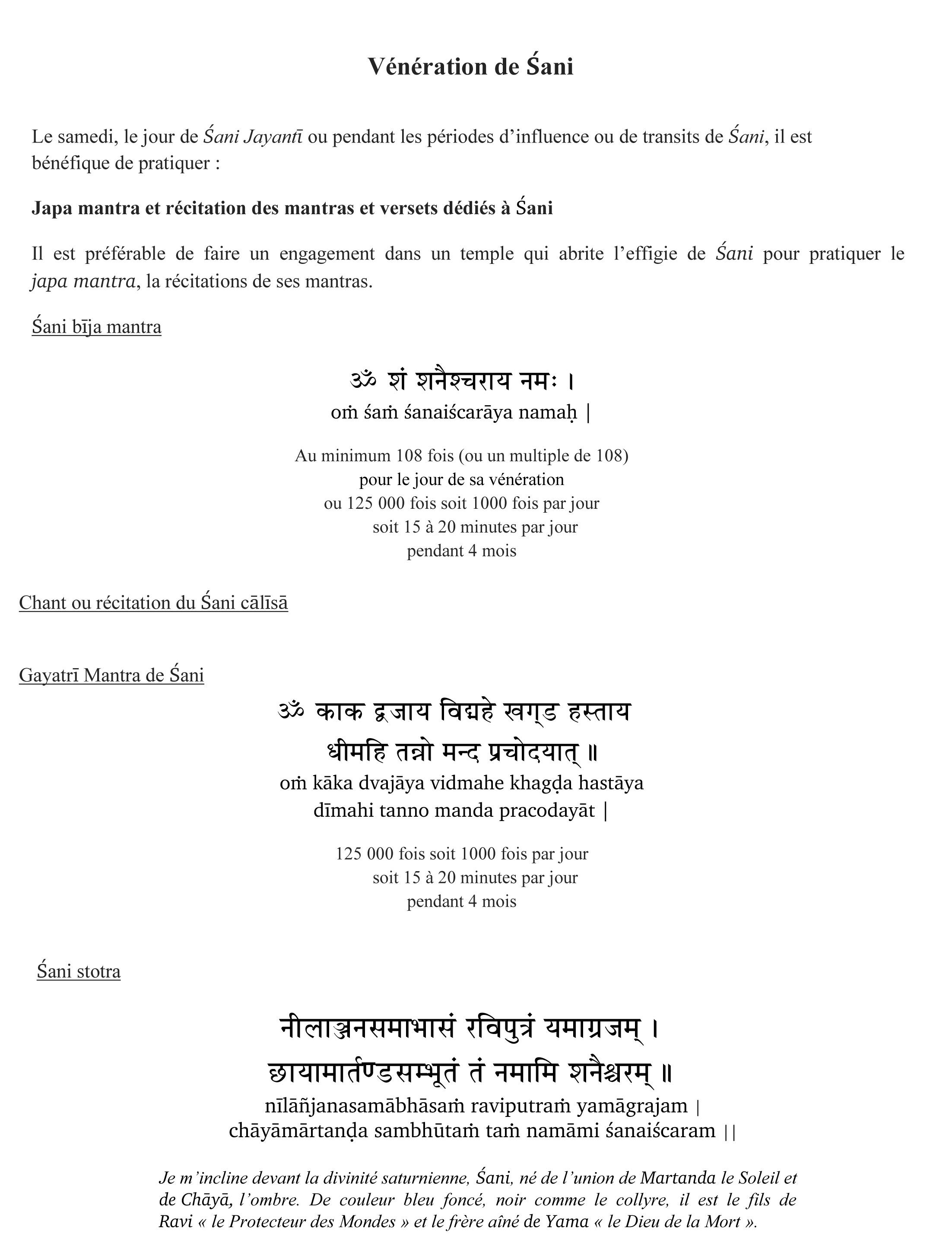 Verset de Méditation sur shani p3