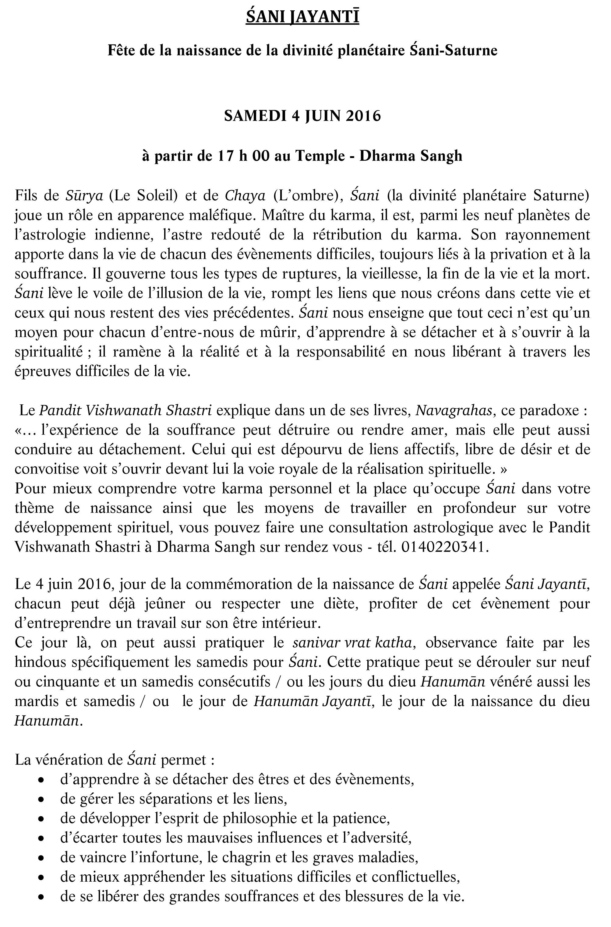 SHANI JAYANTI pour site  face book-1