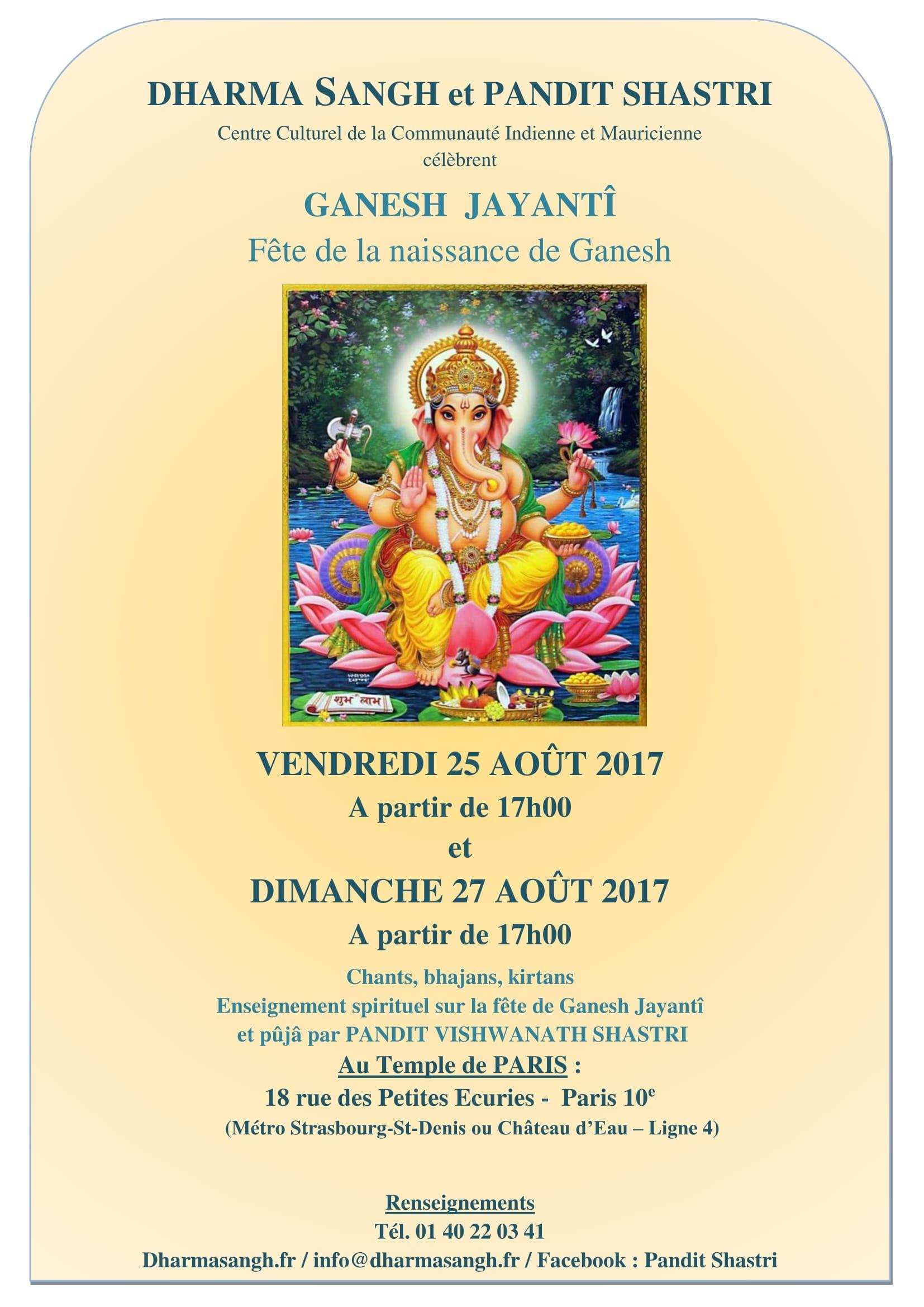 affiche de Ganesh Jayanti A4-1