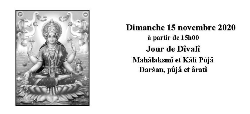 affichettes durga puja et divali seul